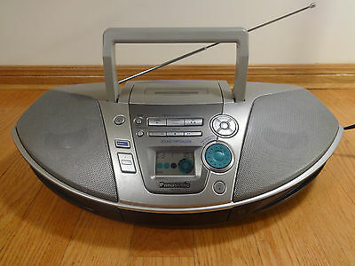 Panasonic RX-ES20 BOOMBOX AM/FM Radio CD Cassette Stereo TESTED 100% Works Great