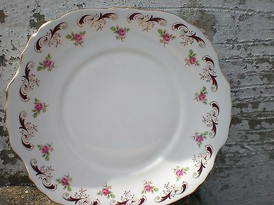 Vintage Bone China Crown Staffordshire Wentworth Cake / Sandwich Plate
