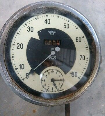 "Vintage ""smiths"" M A Classic Car Speedometer and Clock - Spares or Repairs"
