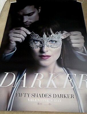 FIFTY SHADES DARKER  BUS SHELTER 4ft x 6ft  BRAND NEW AUTHENTIC STUDIO PROMO