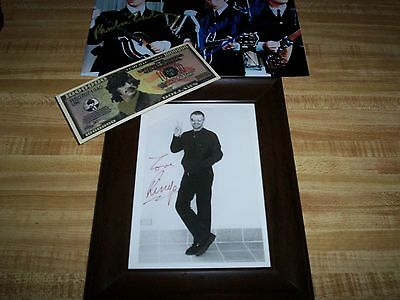 The Beatles / Ringo Starr / Genuine Autograph / Glass-Framed Promo Photo