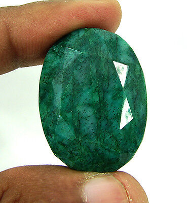 Certified 91.70 Ct Huge Natural Oval Cut Emerald Loose Gemstone - 113240