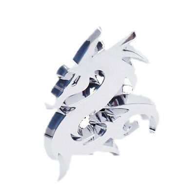 3D Dragon Car Emblem Badge Decal Sticker Silver L3R2