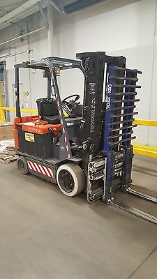 2009 Toyota double pallet, electric forklift,  7FBCU30 - 36v, includes charger