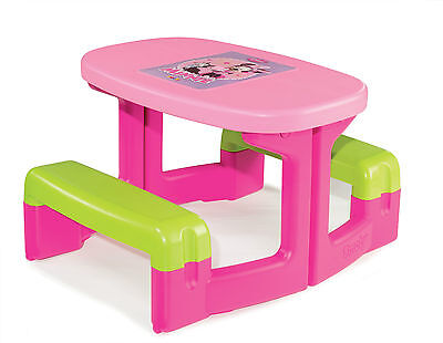 Childrens Outdoor Garden Picnic Table Bench Minnie Mouse Simba Smoby 310291