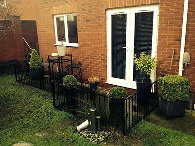 Garden Black Wrought Iron Fence Fencing Gate