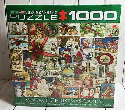 Vintage Christmas Cards 1000 Piece Eurographics Puzzle 2016 Made in USA
