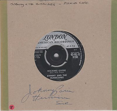 Signed JOHNNY AND THE HURRICANES-  7 INCH 45 RPM -  LONDON AMERICAN RECORDS