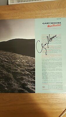 RARE Gary Moore Signed Autographed