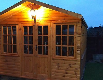 Log Cabin, Home Office, Summerhouse, Shed, Log Lap Timber Building, Garden