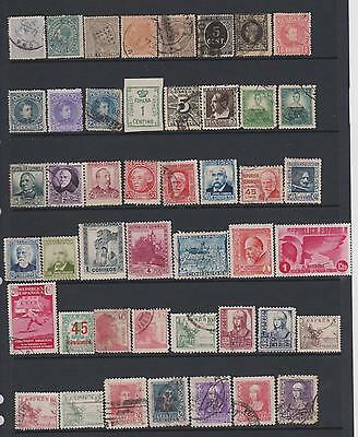 Spain  -  from 1870 - Collection of 159 mint & used stamps - on 4 pages