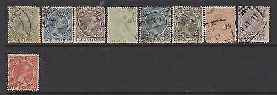 Spain 1889 -  from   SG276   - 9 used  - cat value £18+