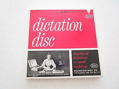 Dictation disc DDC 450 Shorthand Speed Development Set 45 RPM Record Set of 4