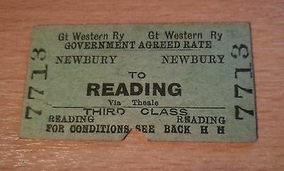 GWR Newbury to Reading - Great Western 3rd Class Cheap Ticket - Not Dated