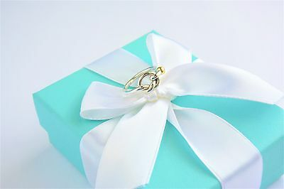 Tiffany & Co Sterling Silver 18K Yellow Gold Twist LOVE KNOT RING BAND SIZE 6