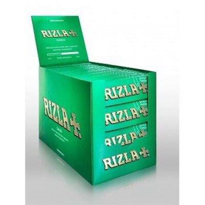 RIZLA GREEN REGULAR /STANDERD Smoking Papers Booklets 10/15/25/50AND100 BOOKLETS