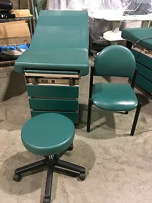 Midmark Ritter 104 Exam Table, Side Chair and Doctor Stool 4 Each Available
