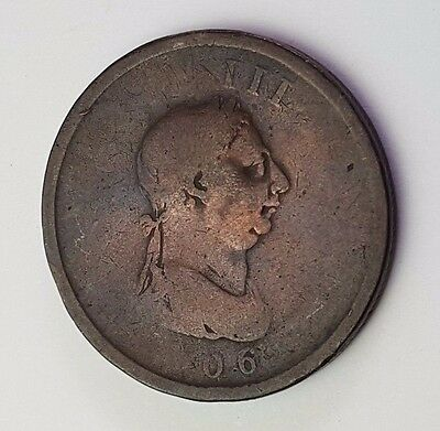 1806 - Copper - One Penny - Great Britain - King George III - English UK Coin