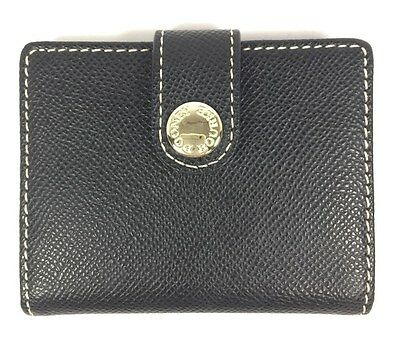 DOONEY BOURKE Small Leather Credit Card Holder Snap Closure  Navy/Black