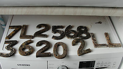 cast iron railway letters and numbers railwayana