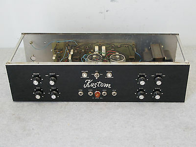 Rare Kustom 2-15J-1 Guitar Amplifier / PA Head, Chassis Only For Parts / Repair