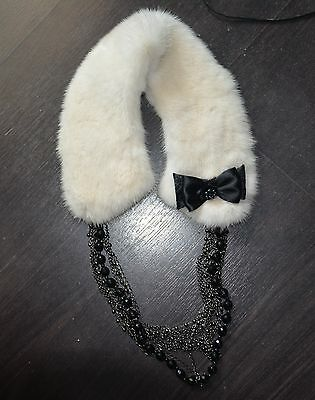 real fur Collar with chain never used