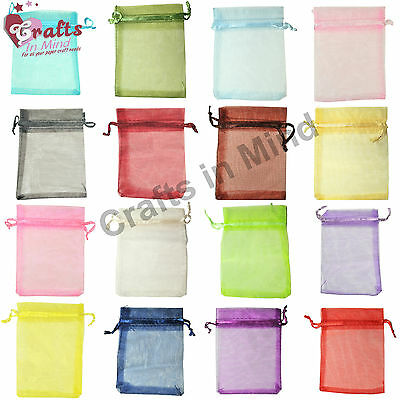13x18cm ORGANZA Premium Wedding Favour GIFT BAGS | Pouches | Jewellery