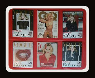 Madonna Vogue Magazine Italy 4 Diff. Cover Sealed  + Io Donna + Gq Like New .