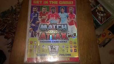 Topps match attax collector binder(full)414 cards included.premier league.2014/