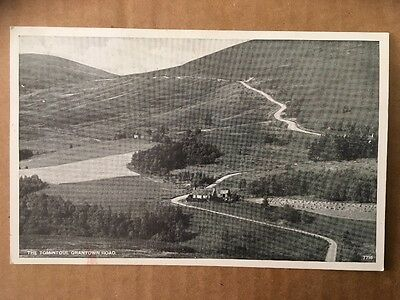Real Photograph Post Card  - THE TOMINTOUL - GRANTOWN ROAD SCOTLAND unused