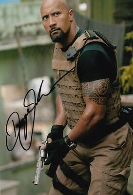 DWAYNE JOHNSON THE ROCK FAST AND FURIOUS SIGNED 12x8 INCH LAB PRINTED PHOTO