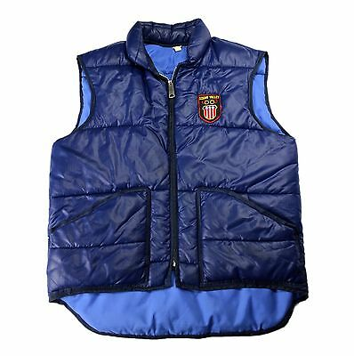 Vintage Squaw Valley 1960 1960s Olympics Navy Blue Down Ski Vest Mens Size Small