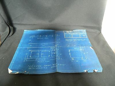 Vintage 1948 Blueprint for HOT POINT Refrigerated Base