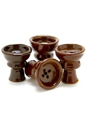 Original 100% Egyptian Hand Made Large Hookah Clay Bowl Unglazed Natural Brown