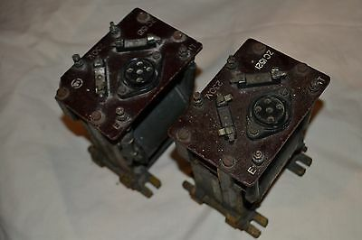 HT / LT 4v Military Valve power supply Transformers - Pair - Working Order