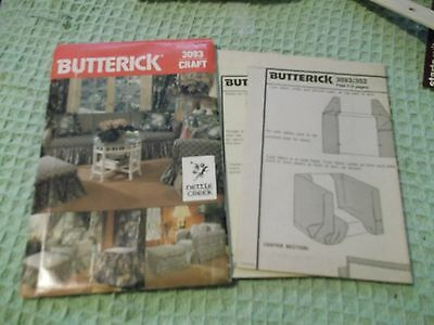 Butterick vintage 3093 Craft Pattern Nettle Creek drapes  pillow & chair covers