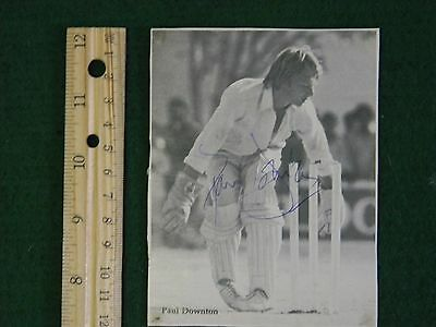 Middlesex county cricket Paul Downtown signed magazine photo