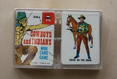 Vintage Old West Western, 1967 Daniel Boone + Cowboys and Indians Mini Card Game