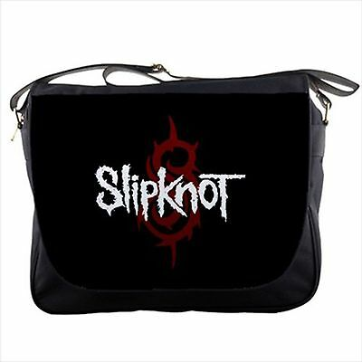 Slipknot logo band design on messenger bag textbook shoulder sling flap NEW