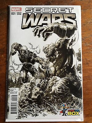 Secret Wars 1 Comic Con Box EXTREMELY RARE Sketch Var Homage Hulk 181 Deodato