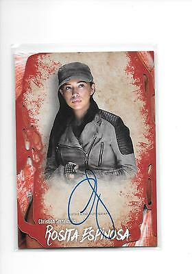 2016 Topps The Walking Dead Survival Box Christian Serratos Rosita Espinosa Auto