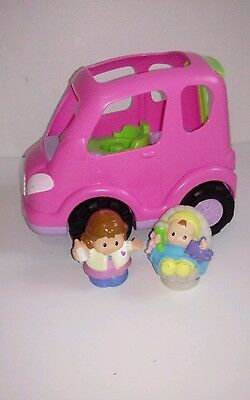 Fisher Price Little People Musical Van/Hatchback with Mum & Baby excellent cond