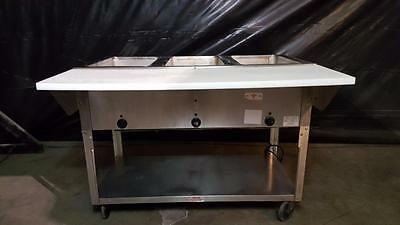 Advance Tabco 3 Well Electric Steam Table w/ Cutting Board