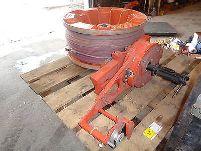 Sherman & Reilly Model # S-7500 Stringing System W/ Spool W/ Aprox 3000 Ft Cable