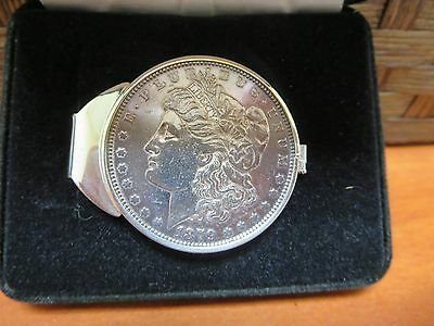 U.S. Mint Sterling Silver Money Clip with 1879 Morgan Dollar    (199)