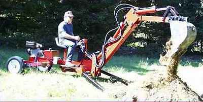 Towable Backhoe Plans with Thumb Plans Combination
