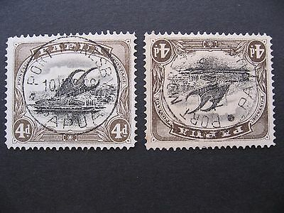 Papua, Lakatoi SG57 Used 1 with upright and 1 with inverted watermark