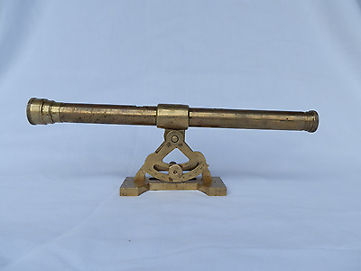 Vintage Ross London Lacquered Brass Miniature Refracting Telescope