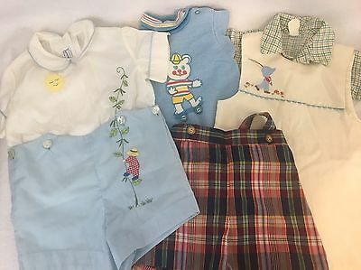 VINTAGE 50's BOYS Clothes ~ BABY Toddler ~ SHORTS ~ Shirts, Set Spring Easter 3T