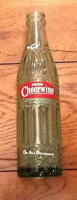 Vintage 1964 Cheerwine Acl Bottle ~ Granite Falls, Nc ~ 8 Oz King Size
